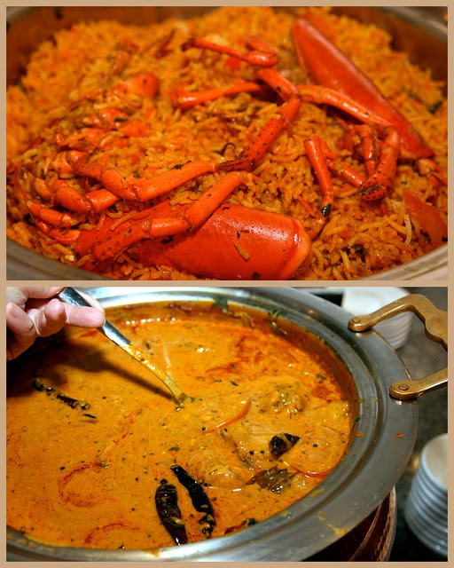 Lobster briyani and Norwegian Saithe Fish Curry
