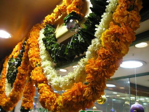 Image result for flower decoration for diwali