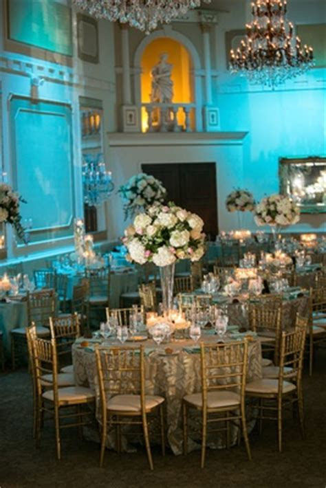 Church Ceremony   Tiffany Blue Ballroom Reception in North