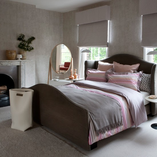 Pink and grey bedroom  Decorating ideas  traditional bedrooms  housetohome.co.uk