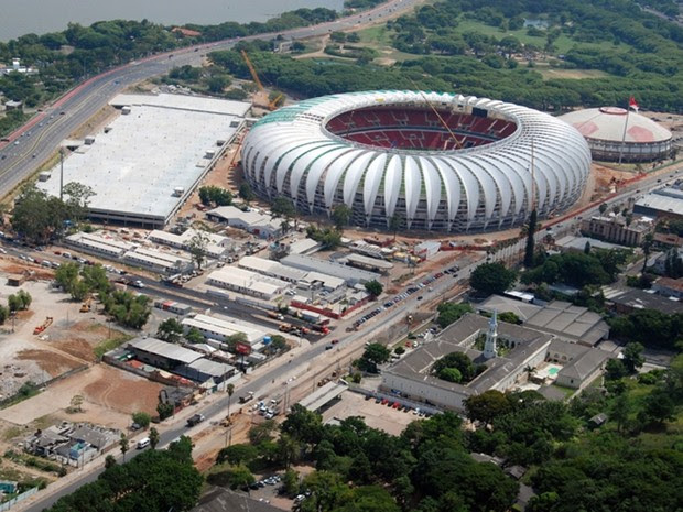 Estádio Beira-Rio, em Porto Alegre, em foto feita em fevereiro de 2014 (Foto: Divulgação/Internacional)