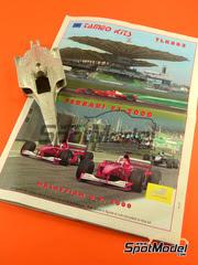 Tameo Kits: Maqueta de coche escala 1/24 - Ferrari F1 2000 Marlboro Nº 3, 4 - Michael Schumacher, Rubens Barrichello - Gran Premio de Malasia 2000 - maqueta de metal