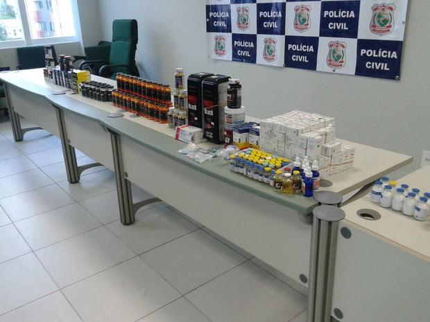 Grupo é preso com milhares de comprimidos anabolizantes em Foraleza (Foto: TV Verdes Mares/Reprodução)