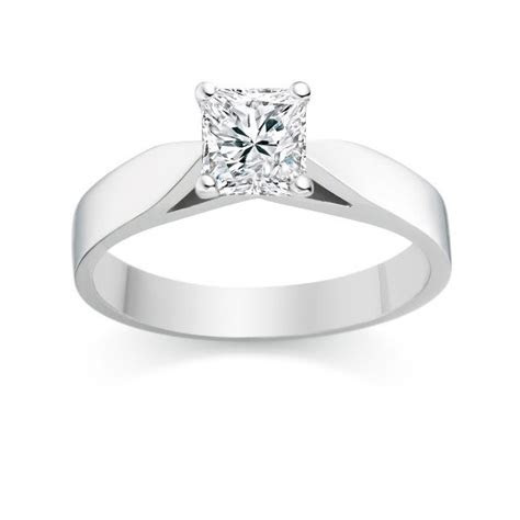 Elegant Cheap Solitaire Wedding Ring Half Carat Princess