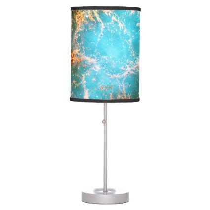 Monogram Crab Nebula in Taurus outer space picture Desk Lamps