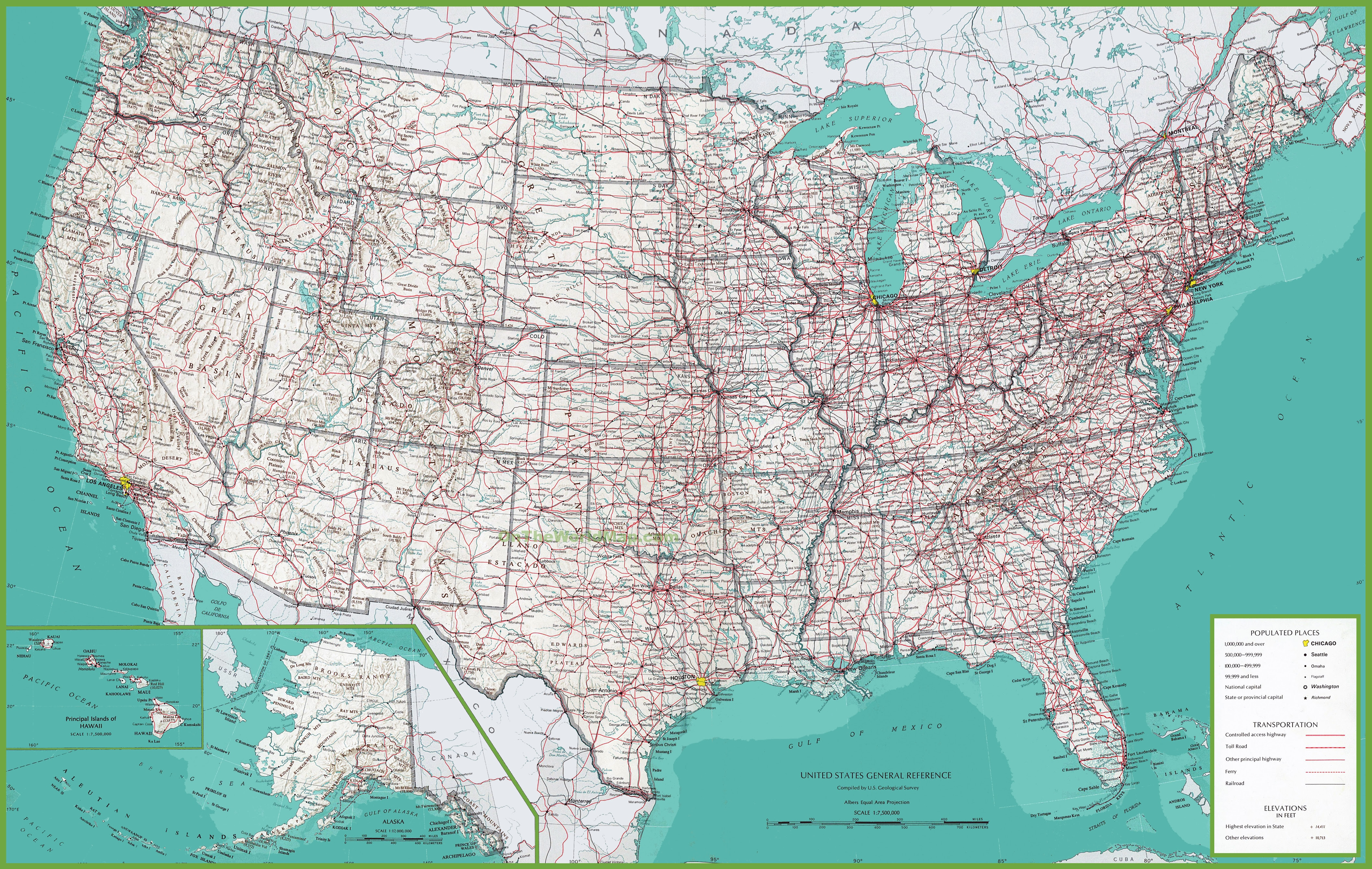 Us Map Detailed Usa Map Guide 2016