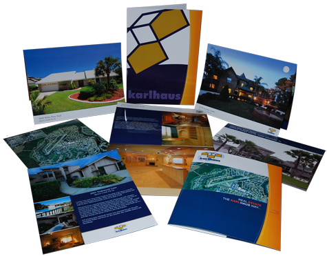 Karlhaus produces professional, rich glossy brochures for our properties