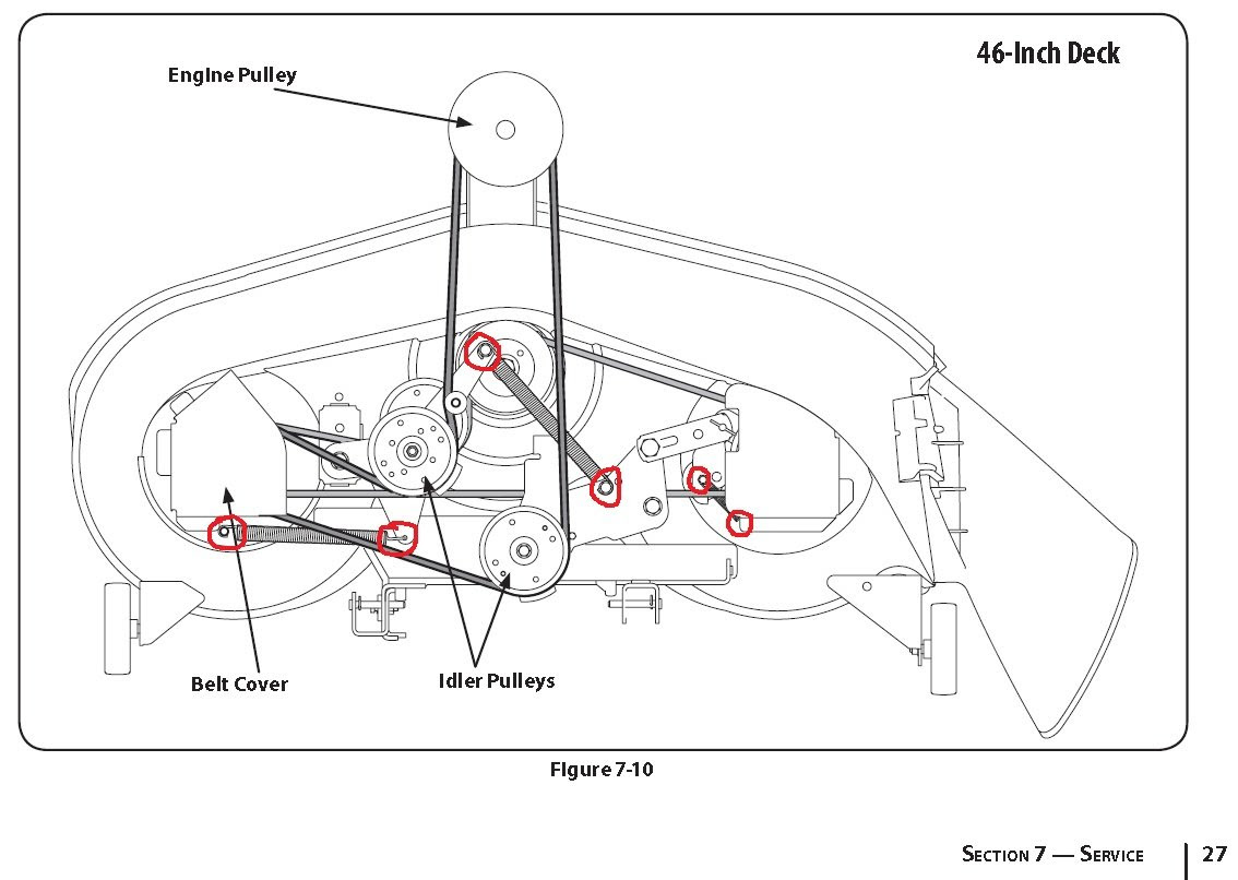 How to change Upper drive belt (Mowing deck) on MTD mower?