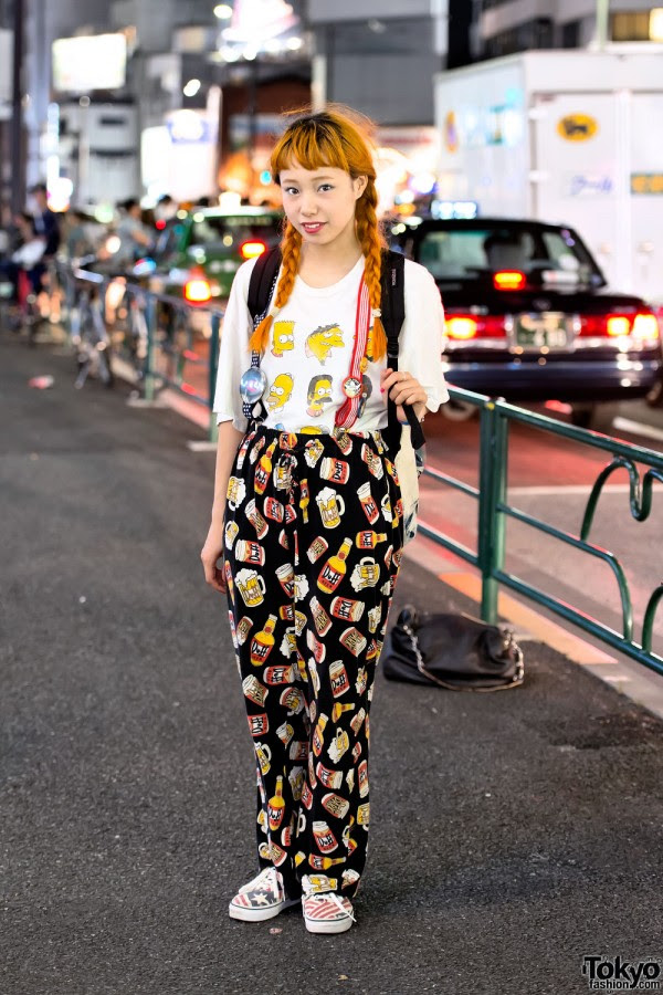 The Simpsons & Pajama Pants in Harajuku