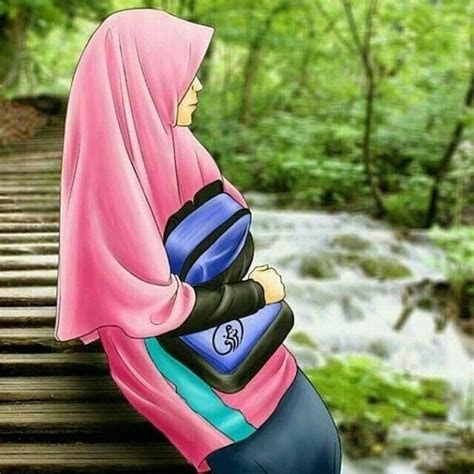foto hijab kartun gambar wanita cantik berhijab foto cantik
