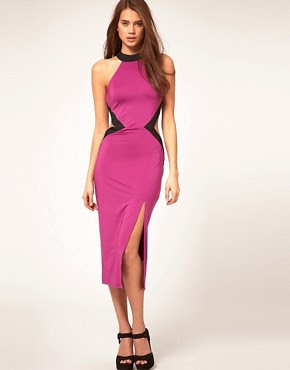 Image 1 of Rare Cut Out Contrast Dress