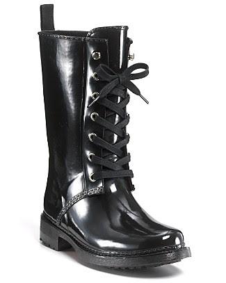 "KORS Michael Kors ""Stow"" Lace-Up Rain Boots"