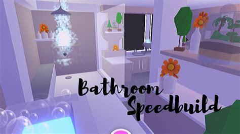 bathroom speedbuild adopt  roblox youtube