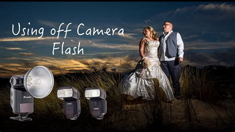 Using off camera flash at weddings, streak light Godox 360