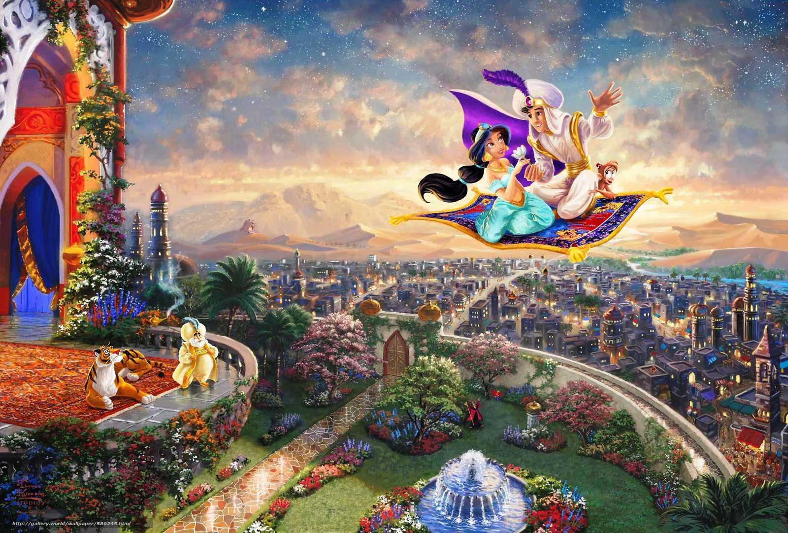 ディズニー アラジン Aladdin Pcデスクトップ壁紙 ジャスミン姫