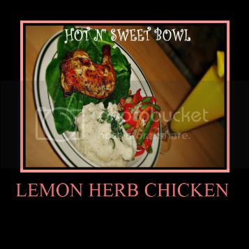 Lemon Herb Chicken With Garlic Mashed Potatoes