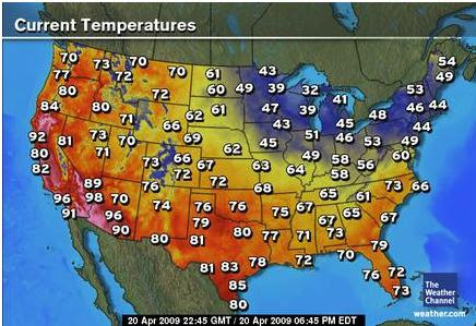 Heat Wave In The Western United States Indicates Cooling