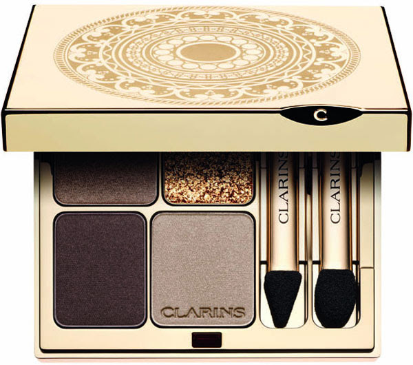Clarins Holiday 2012 Odyssey Eye Quartet Mineral Palette Clarins Holiday 2012 Makeup Collection   Info, Photos & Prices