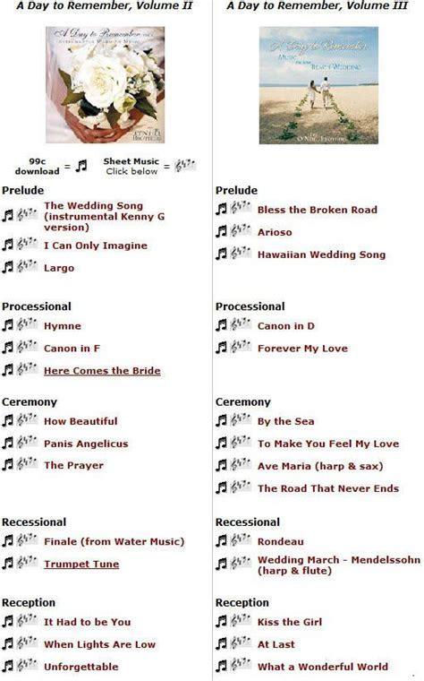 25  best ideas about Wedding Music List on Pinterest