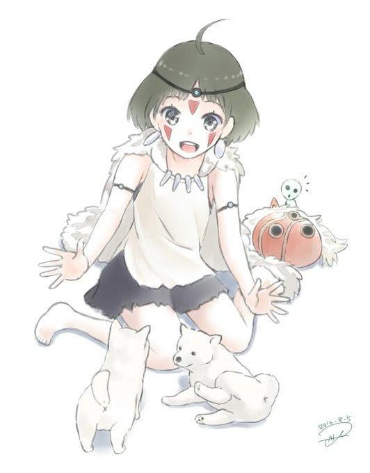 もののけ姫 アシタカ サン イラスト
