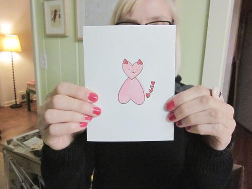 Kitty Heart Valentine's Day Card
