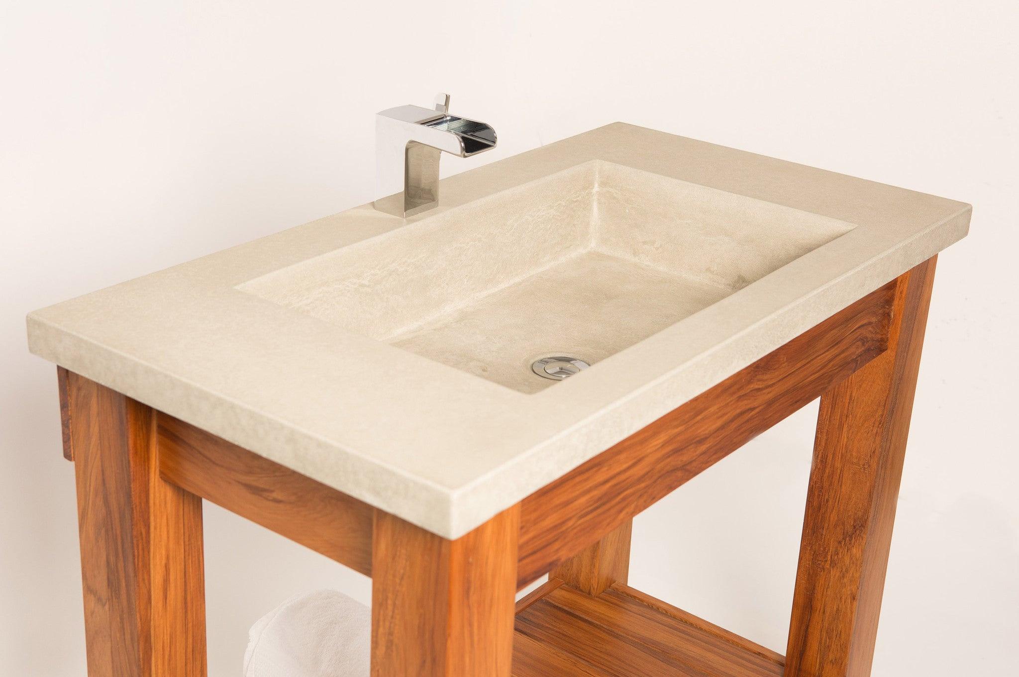 Bathroom Vanity Trough Sink Solid Art
