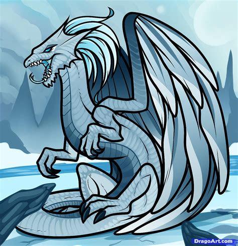 draw  white dragon white dragon step  step