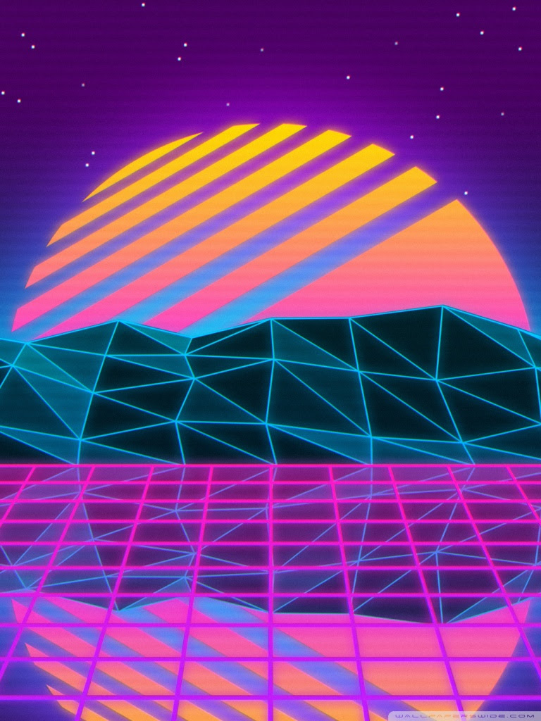 Vaporwave 4K HD Desktop Wallpaper for • Wide  Ultra Widescreen Displays • Dual Monitor Desktops