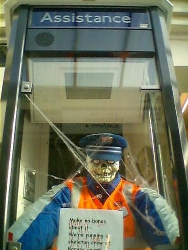 Tube Running a Skeleton Crew by Mark Ovenden