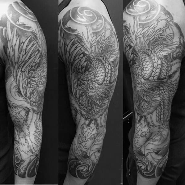 50 Japanese Phoenix Tattoo Designs For Men Mythical Ink Ideas
