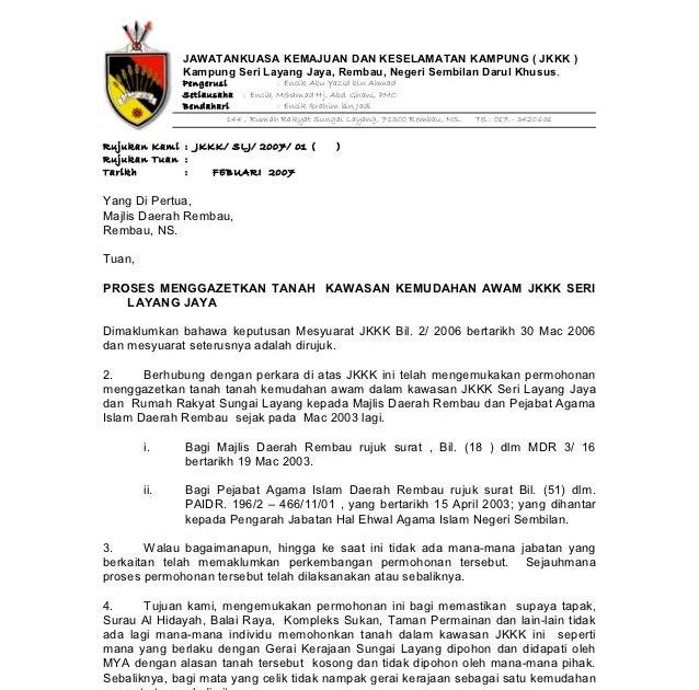 Contoh Surat Permohonan Kepada Yb - Surat P