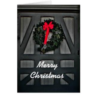 Christmas Wreaths Greeting Card
