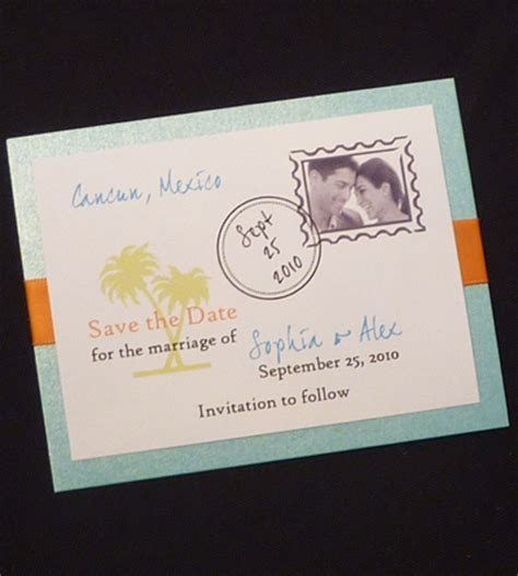 Interesting save the date cards   WeddingLight Events
