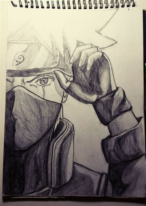kakashi sharingan pencil drawing learning  draw