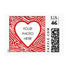 Scribbleprint Heart Border Template stamp
