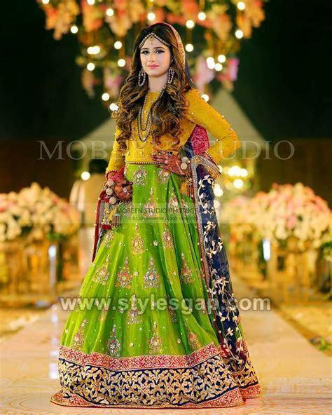 Latest Bridal Mehndi Dresses Designs 2019 2020 Collection