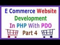 E Commerce Website Development In PHP With PDO Part 4 Creating Header