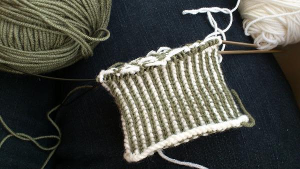 Knit Now Ella Austin Bombell Bunty Mitts WIP