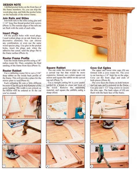 woodworking plans mirror