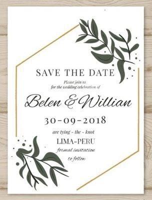 Desain Undangan Pernikahan Rustic - Kartu Undangan
