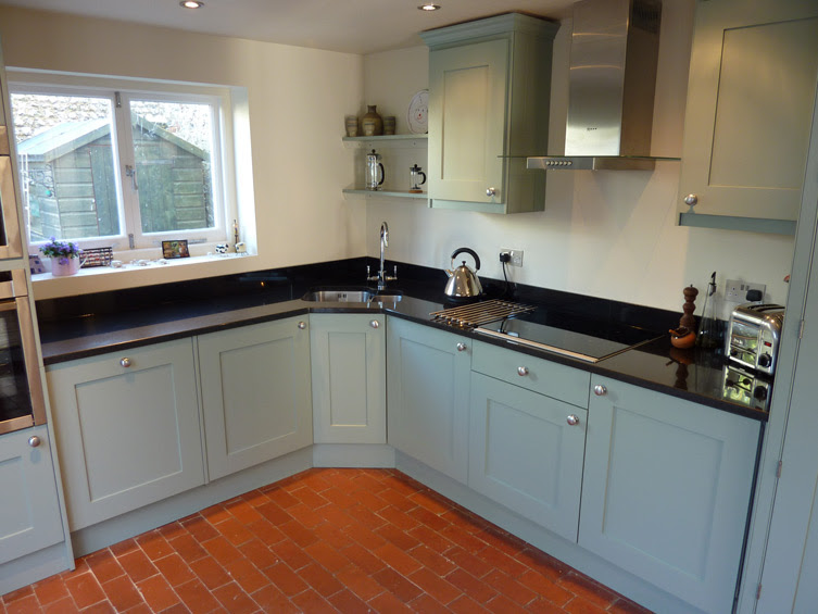 blue-grey painted kitchen by Peter Henderson Furniture ...