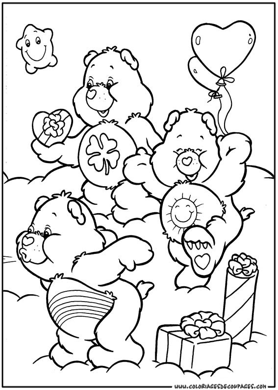 146 Dessins De Coloriage Bisounours à Imprimer Sur Laguerchecom