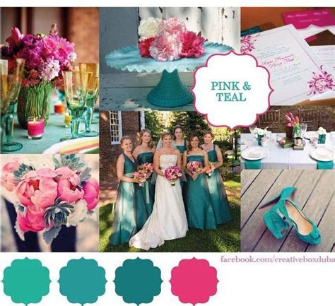 Hot pink & Teal Wedding Colour Scheme ? Bride Club ME?s