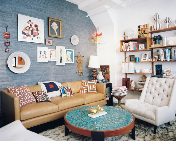Midcentury Vintage Living Room Photo - Lonny