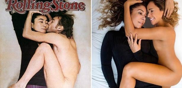 Capa do novo álbum de Daniela Mercury e a icônica foto de John Lennon e Yoko Ono na capa da revista Rolling Stone em 1980