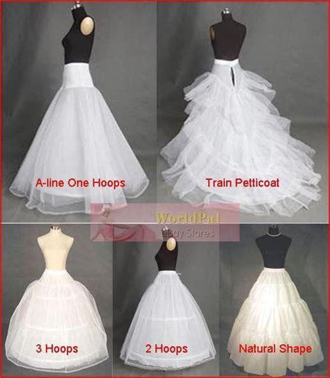 Cheap Bridal Wedding Gown Petticoat Skirt Slip Crinoline