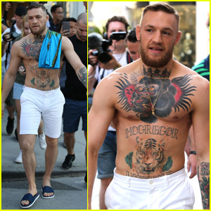 Conor McGregor Does Some Shirtless Shopping in Beverly Hills