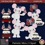 Patriotic Mice 2 Clipart - CU