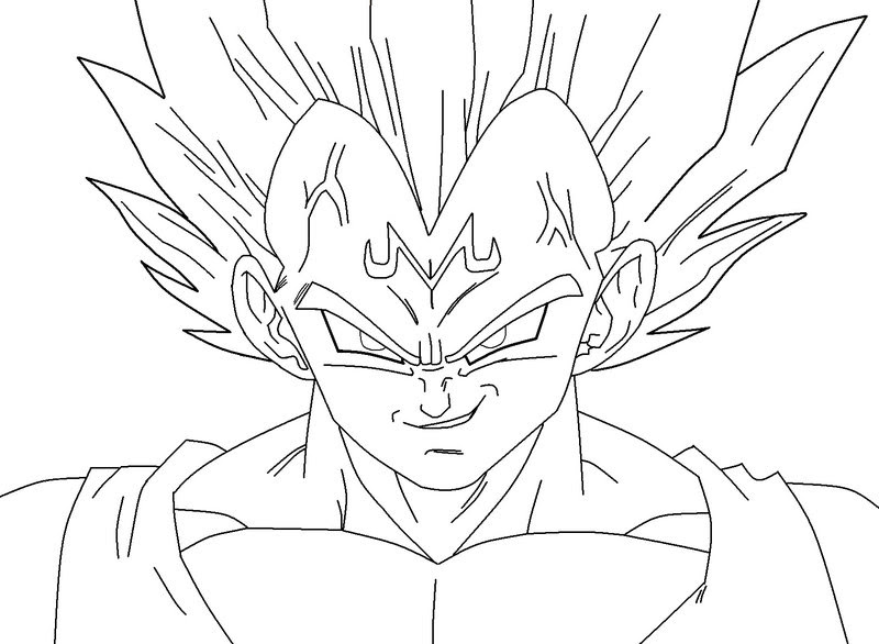 Dragon Ball Z Vegeta Drawing At Getdrawingscom Free For Personal