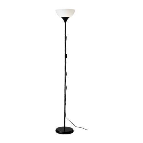 """NOT Floor uplight, black, white Height: 69 """" Base diameter: 11 """" Shade diameter: 12 """" Cord length: 6 ' 3 """"  Height: 174 cm Base diameter: 28 cm Shade diameter: 30 cm Cord length: 1.9 m"""